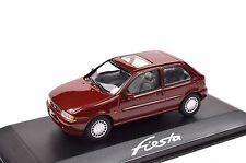 Ford fiesta 4 1995 Rojo Oscuro Distribuidor Modelo Minichamps 433 085003 1:43 nuevo Diecast