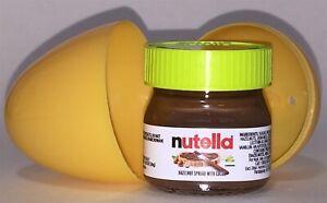 NUTELLA mini-glass jar w/ green top 1.05oz Italy -Orange/Yellow Egg Special-