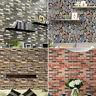 3D Brick Stone Rustic Effect Self-adhesive Wall Sticker Wallpaper Home Decor New