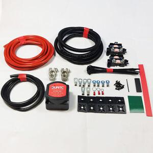 Split Charge Kit Durite Relay 5mtr 12V 140amp Voltage Sensitive