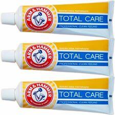 3 x ARM & HAMMER Total Care Toothpaste Fluoride Baking Soda Fresh Breath Whiten
