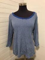 Eddie Bauer Women's Size 2XL Long Sleeve Scoopneck Cotton Blouse