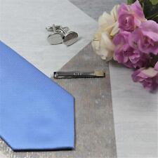 Personalised Engraved Silver Tie Bar Tie Clip Wedding Gift