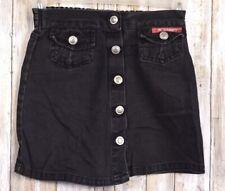 Kids No Excuses Original Button Down Black Skirt Size 6