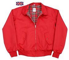 Harrington Jacket Classic 1970 Style Bikers Skinhead Scooter Vintage Retro Red