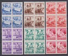 Indonesie Indonesia 189-194 sheets blokken MNH Toeslag t.b.v invaliden 1957