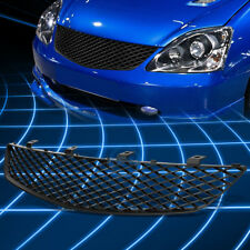 Black ABS Bumper Protect Grille Guard Cover for 2002-2005 Honda Civic Hatchback