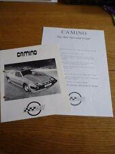 """Delkit GRP CAMINO 2+2 Sporting COUPE KIT CAR """"brochure""""/foglio anni 1970?"""