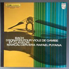 MARCAL CERVERA Bach 3 Sonates for Viole De Gambe Philips 6500 005 audiophile LP