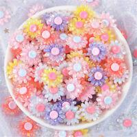 18mm Mixed Mini Resin Flowers Cabochons 10pcs DIY Craft Decors Hair Accessories