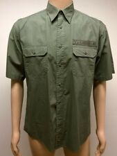 (Used) Mens Jeep Brand Size: S Short Sleeve Casual Button Front Shirt Green