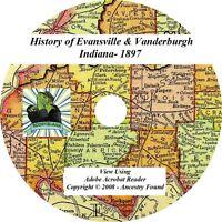1897 History Evansville & Vanderburgh County Indiana IN
