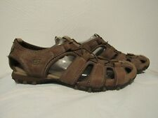 SKETCHERS Womens Original Outdoor Bikers/Hiking Sandals Brown Leather Size 11 M