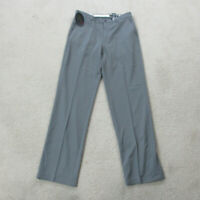 NEW Greg Norman Pants Mens 32 Gray Shark Golf Golfer Golfing Slacks Casual A1