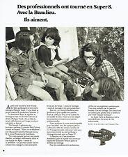 Publicité Advertising 088  1974   caméra Super 8 Beaulieu