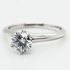 Tiffany Diamond Engagement Ring 1.07 Carat in Platinum