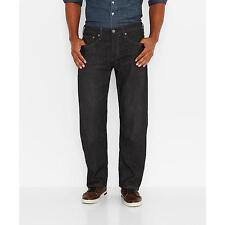 Levi's 569 Jeans Men's Loose Straight Fit Black Denim Size 30x30