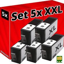 5x CHIP PATRONEN für HP-364-XL DESKJET 3070A 3520 3522 3524 OFFICEJET 4620 4622