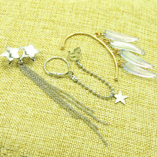 Tassels Earrings Ear Cuff Cosplay 2020 3Pcs Set Earrings Star
