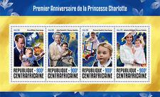 Afrique centrale rep 2016 neuf sans charnière princesse charlotte 1st anniv 4v m/s royalty timbres