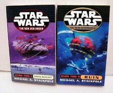STAR WARS New Jedi Order Dark Tides I&II Book Set of 2