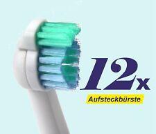 12 x Ersatzbürstenköpfe für Philips Sonicare, Sensiflex, Aufsteckbürsten HX2012