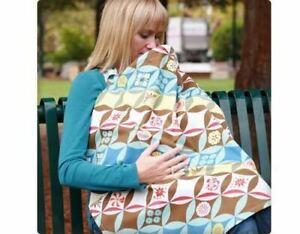New Bebe au Lait Nursing Cover Blanket Hooter Hiders Breastfeeding Kimono Print
