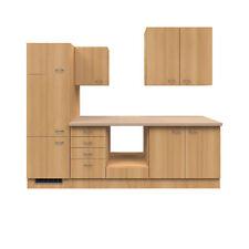 Küchenzeile ohne E-Geräte Küchenblock Einbauküche ohne Elektrogeräte 270cm buche