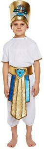 Boys Egyptian Fancy Dress Up Costume Outfit Ages 4-12 yrs Pharoah World Book Day