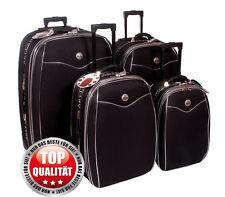 Reisekoffer, Koffer, Trolly, Set ,  Brilliant,  mit Dehnfalte, 4 tlg.schwarz