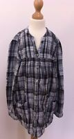 BEAUTIFUL GIRLS BLACK WHITE SILVER GREY CHECKED SHIRT BLOUSE TOP 4 - 5 YEARS