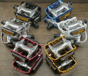 """Alloy Fixie Road Bike Quill PEDALS 9/16"""" Fixed Gear Track Bicycle BMX Cruiser"""