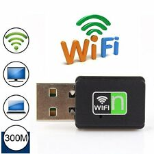 300Mbps Mini Wireless USB WiFi Adapter Dongle 300M Network LAN Card 802.11n g b