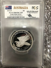 2014-P  5 OZ .999 SILVER WEDGE-TAILED EAGLE HR PR69 DCAM (PCGS) John M. Mercanti