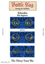 Battle Flag - Swedish Mercenary Blue Regiment plate II (Thirty Years War) - 28mm