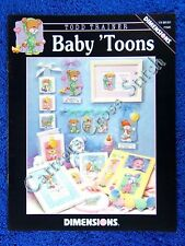 Cross Stitch Pattern Baby 'Toons Baby 14 Cartoon Animls Mouse Turtle Cat Rabbit