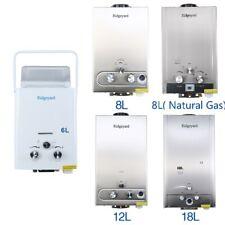 Ridgeyard 6/8/12/18L Chauffe-eau NG/GPL instantané gaz propane butane Chaudière