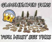 ULTIMATE Gloomhaven terrain set, fully PAINTED AND READY TO PLAY, 102 pieces!!!
