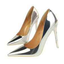 Women Stiletto High Heels Patent Leather Pumps Pointed Toe Shoes Party Nightclub