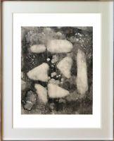 Découverte d'un peintre & graveur Abstrait français / superbe eau-forte (220)