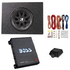 "Kicker 10"" 300W Subwoofer + Q Power Truck Enclosure + Boss 1100W A/B Amplifier"