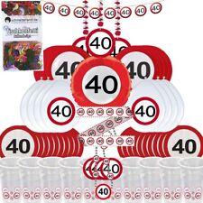 Partybox 40 Geburtstag 57 teilig DEKO Verkehrsschild Partypaket