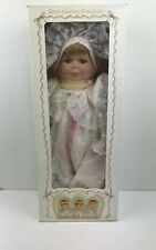 Three 3 Face Doll Vintage Porcelain Baby Doll Cracker Barrel New In Box P1
