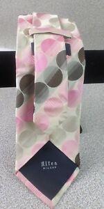 Altea Milano 100% Italian Silk Polka Dot Necktie for Men - Mens 135cm Tie