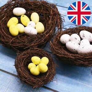 Egg Happy Easter Decoration Artificial Bird's NEST DIY Craft Easter Decor Eggs