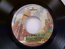 """HEAVEN & EARTH """"LET'S WORK IT OUT / HOW DO YOU THINK YOU'RE GONNA FIND"""" 45 MINT"""