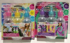 SEALED #BEYOU Tie-Dye Kit 6 SMALL Bottles w/Bands and Gloves 5 Colors