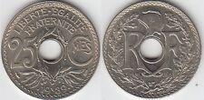 Gertbrolen 25 Centimes maillechort 1939  Superbe brillant de frappe Poids 4,01