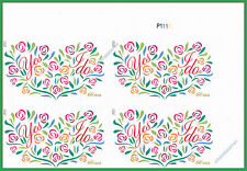 4765a Yes I Do 66c Wedding Imperf UR Plate Block from Imperf Sheet No Die Cuts
