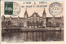 Netherlands  maximum card 1939 Railway Centr station